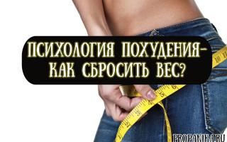Психология похудения — как правильно настроиться на сбрасывание избыточного веса?