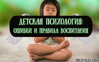Что изучает детская психология: частые ошибки и правила воспитания ребенка