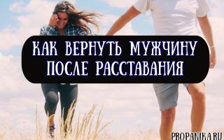 Как вернуть мужчину после расставания — советы психолога