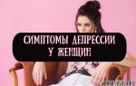 Физические и психические симптомы депрессии у женщин