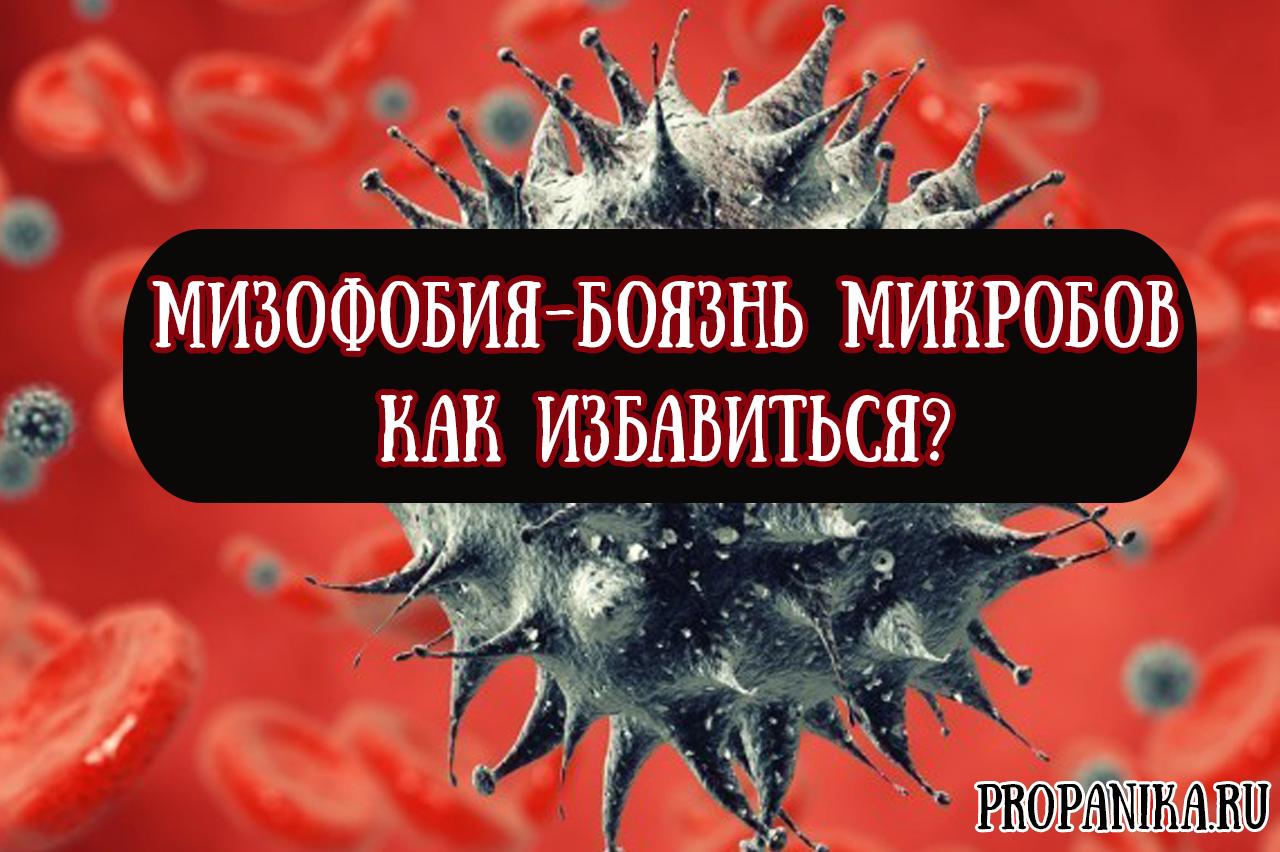 Мизофобия, гермофобия - боязнь микробов, прикосновений и грязи